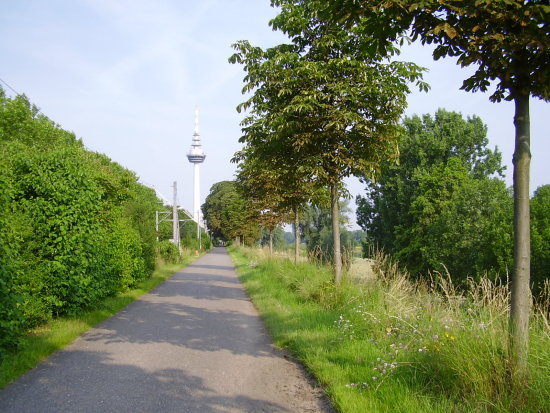 Germany Mannheim Communication tower bicycling route