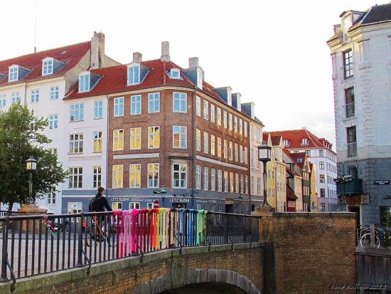 Christianshavn Rainbow Bridge Denmark September 2012 Copenhagen