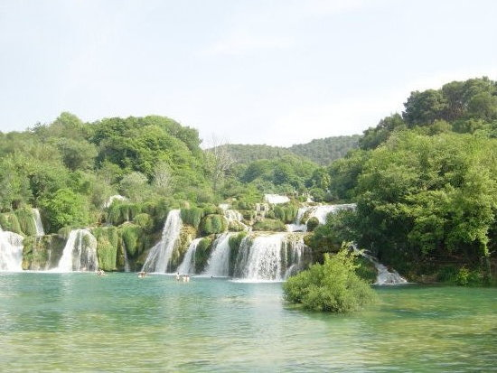 Waterfall in Croatia on the Krka River