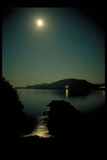 Fullmoon Apolonia Milos Greece greekislands sea moon sky