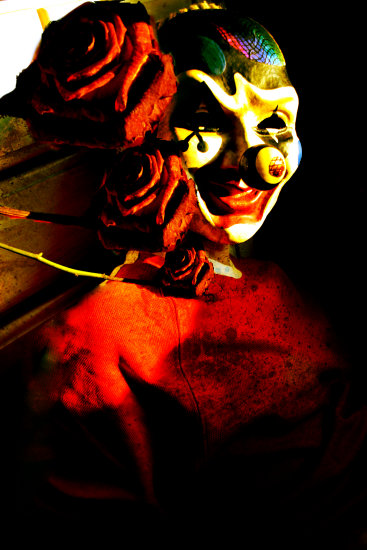clown payaso circus mask masquerade cattberry rose alba alma keriz cirque