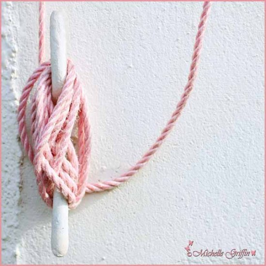 washing line rope pink wall