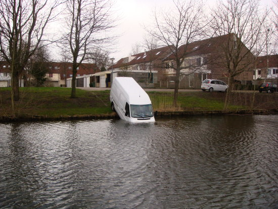 Storm in the Netherlands caused some trouble