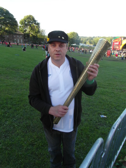 me holded one of the Olympic Torchs