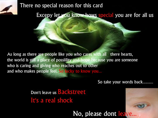 TO OUR LOVELY AND GREAT FRIEND BACKSTREET