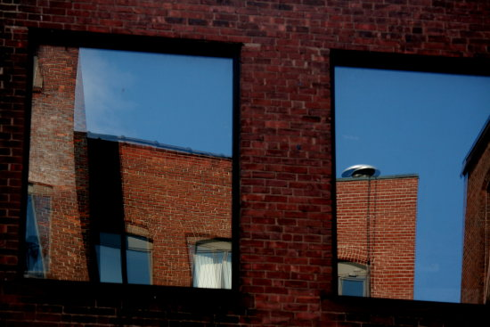 architecture building reflection windows urban landscape city