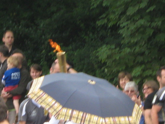Olympic Flame Torch Relay First Ever View Bletchingley Summer Games 2012 Surrey