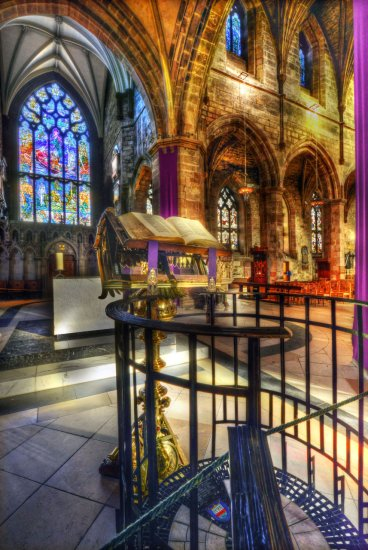 HDr Architecture Cathedral Stained_Glass