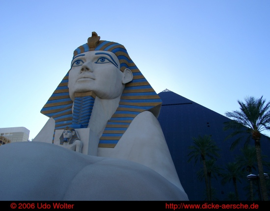Las Vegas city sun light Luxor sphinx