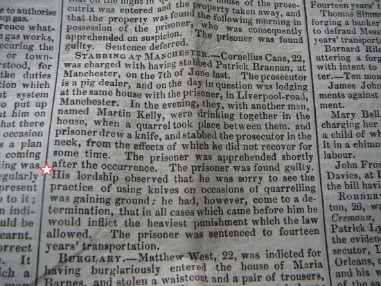 old newspaper trials page