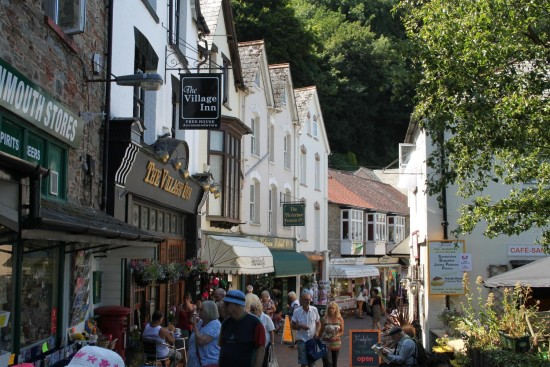 england devon lynmouth architecture landscape people