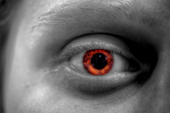 Red eye HDR