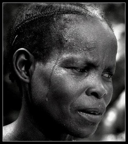 work female congo portrait bw