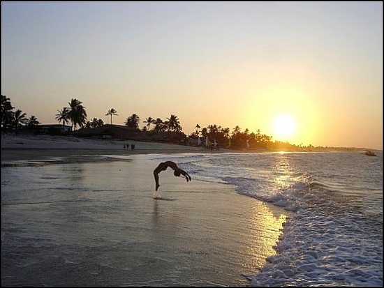 sunset acrobat child josemaria beach Brasil cumbuco brazil