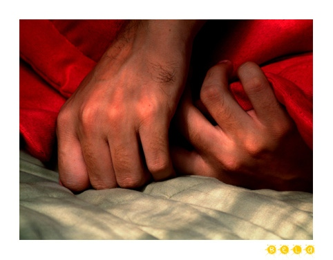 hands and bed