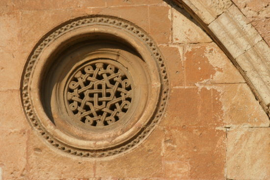 Gothic Round Cathedral Stone Carvedstone Tarragona Spain