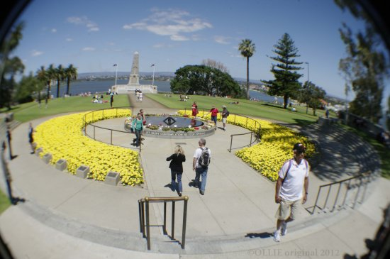 Remembrance day fisheye Memorial world war eternal flame perth littleollie