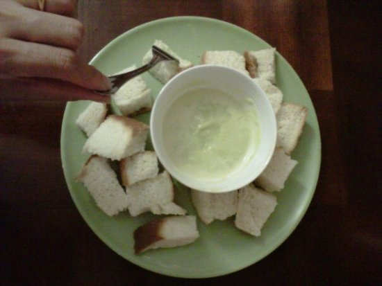White Bread Home style with Thai custard