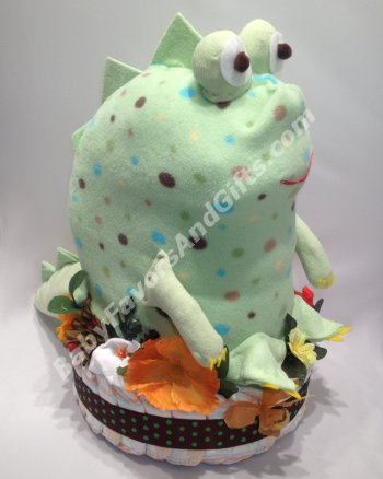 Baby Shower Dinosaur Diaper Cake