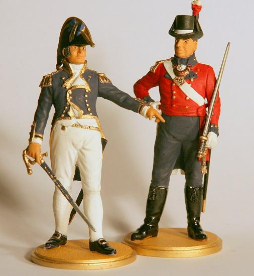 90mm Figures * Captain RN & Captain Marines c.1815