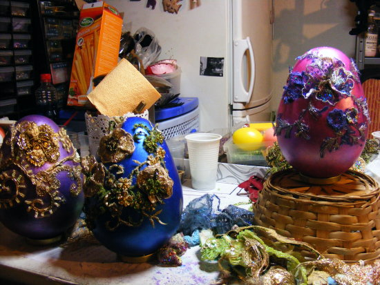 ...some decorated egs... from this Easter...:)