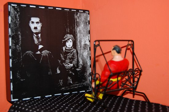 Superman and Chaplin.