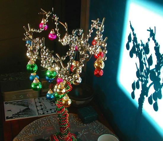 Our wrought-iron holiday tree.