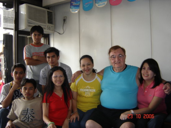 with the Philips staff