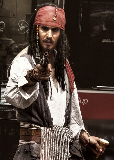 jack sparrow pirates of the carribean bedford town uk dean beddall