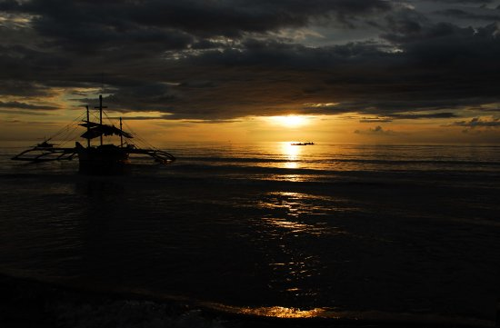 sunset philippines beach seascape