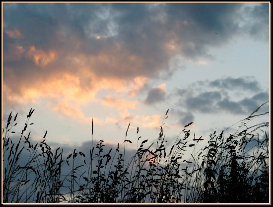 dusk sky sunset nature France summer clouds landscape country evening
