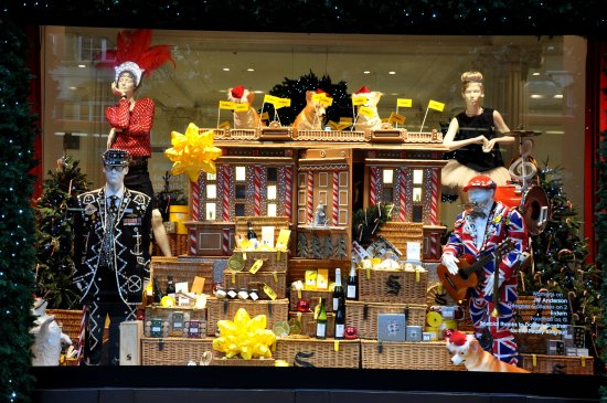window christmas london england selfridges nikon d90