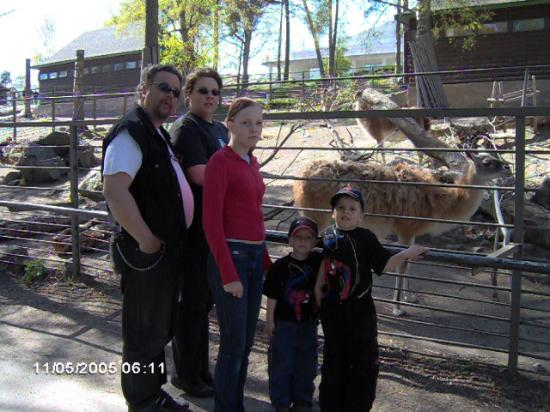 at the zoo in helsinki, me my oldest son and my youngest daughter and