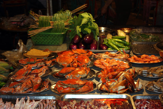 Crabs in the night market