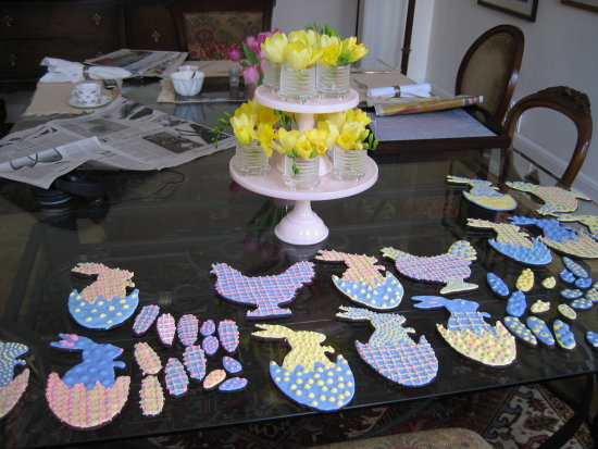 Easter Cookie Royal Icing Decorating