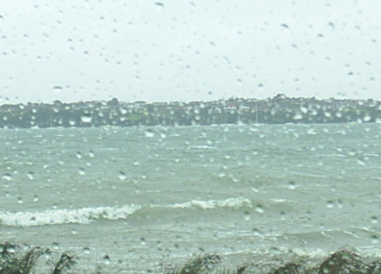 Devonport - Cutting up rough, the start of worst weather for 30 years, great day to visit Auckland.