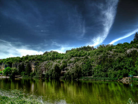 lake clouds nature landscape hdr photomatix photomanipulation Bulgaria Pleven Ka
