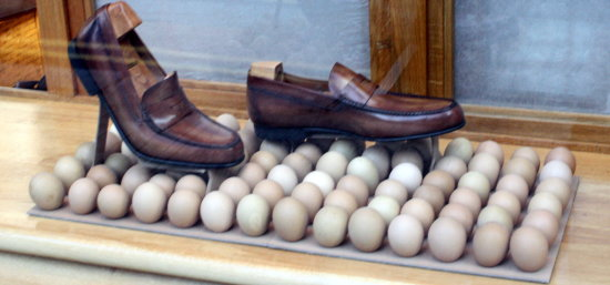 shoes leather brown eggs