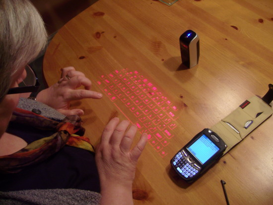 Sheila laser keyboard virtual palm birthday