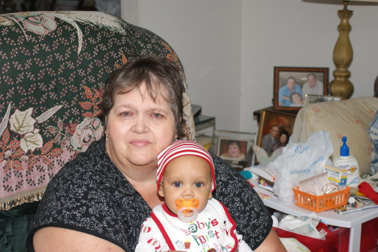 my wife and grandson