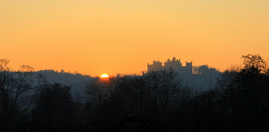 Belvoir Castle at sunset