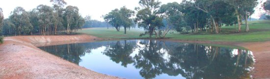 reflectionthursday farm dam fog clears perth hills littleollie