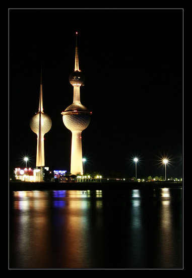 kuwait persian gulf night foto