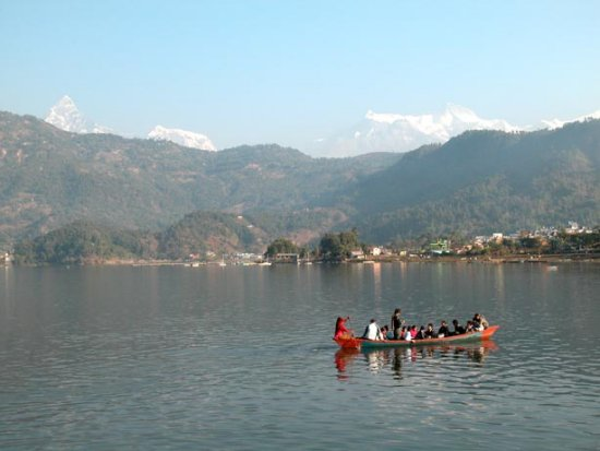 fishtail mountain nepal pokhara himal nature lake fewa lake