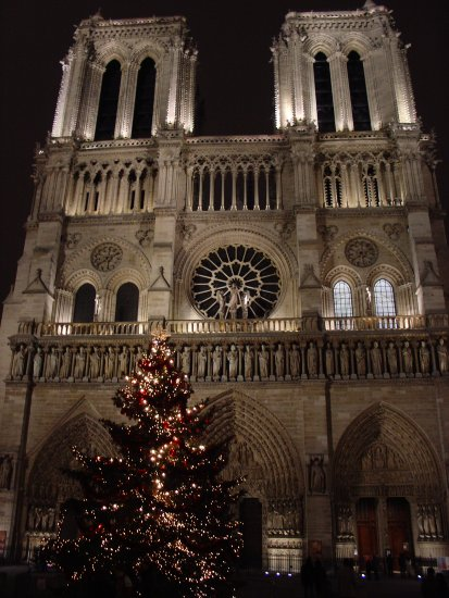 notredame paris christmas
