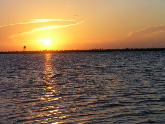 sunset over Aransas Bay
