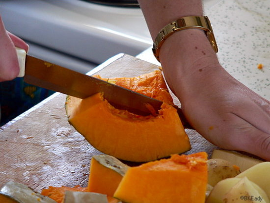 food pumpkin knife cut