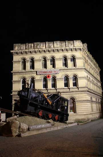 The steampunk train in Oamaru