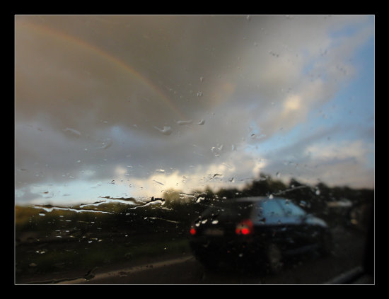 Rainbow Highway raindrops snapshot