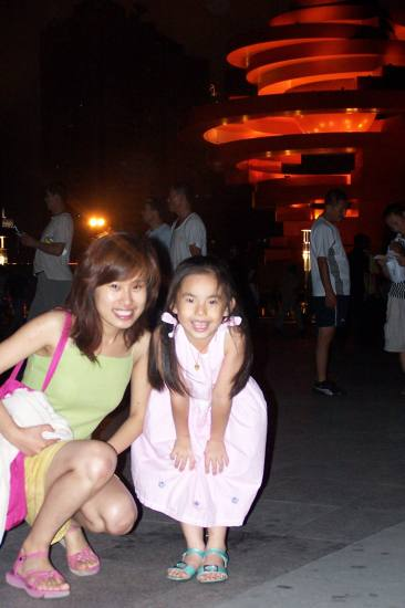 niece and me in Qingdao,China